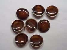 8pc 35mm Opaque Chocolate Brown Wood Effect Coat Cardigan Knitwear Button 4793
