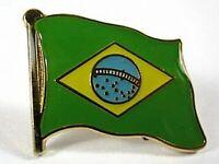 Brasilien Flaggen Pin Anstecker,1,5 cm,Neu mit Druckverschluss