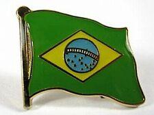 Brazil Flags Pin, 1,5 cm, New Pressure Cap
