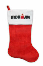 "Ironman M-Dot Triathlon 19"" Christmas Santa Stocking Sewn *New with Tags*"