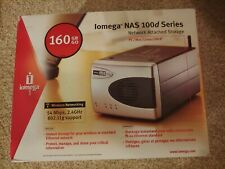Iomega NAS 100d Series 160GB Network Attached Storage Wireless WiFi PC/Mac/Linux