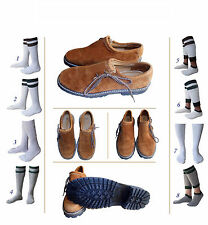New German Bavarian Oktoberfest Trachten Men Lederhosen Leather Shoes Set Lw22