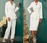 Ashro Ivory Formal Dress Javicia Wardrober Pant Skirt Suit Size 8