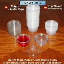 Polar Ice Disposable Plastic Glasses with Lids 2-Ounce Translucent 500-Pack Shot