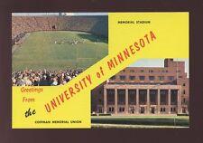 USA FOOTBALL Minnesota University Stadium  c1950s? PPC