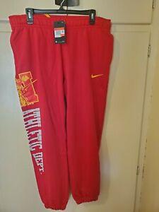 Nike Athletic Club Fleece Sweatpants Size L Gym Red Sportswear DC2740-687
