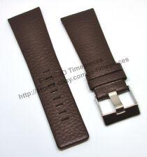 Comp. Diesel DZ7139 DZ1496 DZ1293 - 28mm Brown Genuine Leather Watch Strap Band