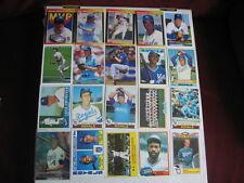 Lot of 20 Kansas City Royals baseball cards. 1970s-present, HOF, chrome