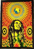 Indian Cotton Bob Marley Poster Wall Hanging Handmade Yoga Mat Table Home Decor