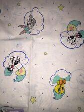 "Baby Looney Toone Fabric -Tweety Silvester Taz - White - 3.91 yard 40"" w - #414"