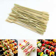 """50 Pcs. BBQ Skewer Bamboo Wood Stick Paddle Grill Party Food Outdoor Cooking 7"""""""