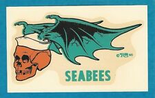"VINTAGE ORIGINAL 1965 ED ROTH NAVY ""SEABEES"" WINGED SKULL WATER DECAL ART MINT"