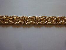 MEN'S FASHION GOLD NUGGET LINK BRACELET ( NGB-2 )