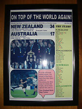 New Zealand 34 Australia 17 - 2015 Rugby World Cup final - framed print