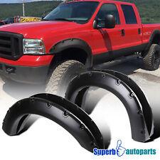 For 99-07 Ford F250 F350 Super Duty 4PC Black Sporty Pocket Rivet Fender Flares