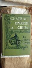 Chats on English China,Third edition,Arthvr Hayden,1912,porcelain