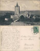Ansichtskarte Saaleck-Bad Kösen Rudelsburg 1915
