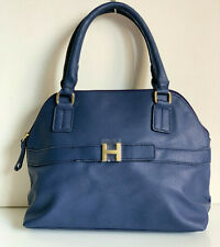 NEW! TOMMY HILFIGER NAVY BLUE DOME BOWLER SATCHEL TOTE PURSE BAG $108 SALE