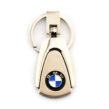Fashion Metal Zinc Alloy Car Logo Keyring 360° Spin Key Chains Holder for BMW