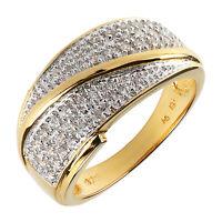 Damen Eternity Ring echt Silber 925 Sterling vergoldet mit Zirkonia weiß gold