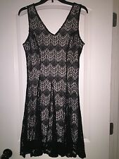 Women's Bar lll sleevless black lace dress size large