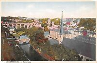 Luxembourg City Panoramic View Churches and Bridge Vintage Postcard B12