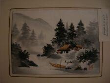 Rare Vintage Japanese Hand Embroidered Art Japan 2
