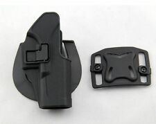 Quick Tactical Holster Right Hand Paddle with Belt Black for Glock 17 18 19 22