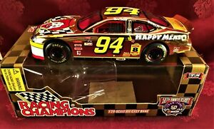 BILL ELLIOTT 1998 #94 McDonalds Happy Meal Gold 1/24 Hood Open Diecast Car 50th