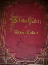 1870's Schiller Gallery Wilhelm Kaulbach ao Book Of Drawings Etchings