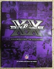 Baltimore Ravens 20th Anniversary 2015 Official Team Yearbook New Mint