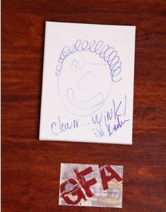 GFA Clown Sketch Original by DAVID KOECHNER Signed Canvas Drawing PROOF COA