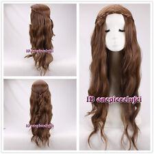 Game of Thrones Margaery Tyrell Dark Brown Braid wavy Cosplay Wig +a wig cap