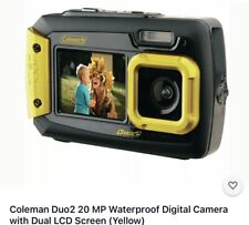 Coleman Duo2 20 MP Waterproof Digital Camera with Dual LCD Screen (Yellow)