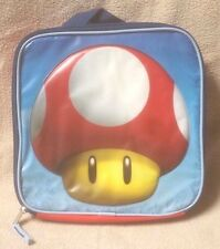 "MARIO BROS. Brothers WII 10"" Square Lunch Bag Tote SUPER MUSHROOM 2012 Nintendo"
