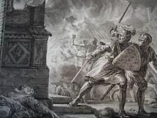 GRAVURE XVIIIe / EMPORTEMENT ET REPENTIR DE LOUIS LE JEUNE AN1148