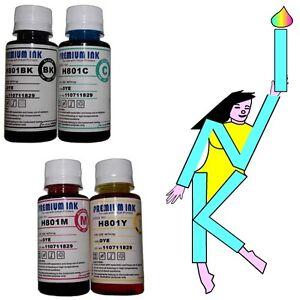 400ml BULK REFILL INK BOTTLES FOR HP PRINTER CISS REFILLABLE CARTRIDGES CHEAP