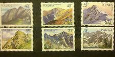 POLAND STAMPS MNH 1Fi3470-75 Sc3313-18 Mi3618-23 - Tatra Mountains, 1996, **