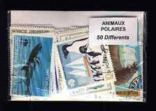 Animaux polaires 50 timbres différents oblitérés