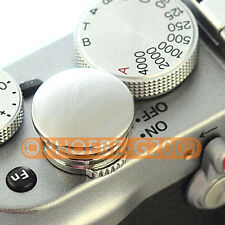Silver Metal Soft Release Button for Leica Contax Fujifilm X100 size:L