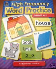 High Frequency Word Practice Grades K-2 Teacher Created Resources
