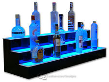 42 3 Step Tier Led Lighted Shelves Illuminated Liquor Bottle Display Free Ship