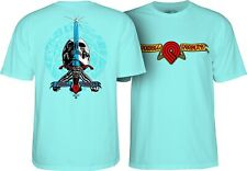 Powell Peralta Triple P Skull And Sword Skateboard Shirt Celedon Xl