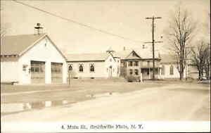 Smithville Flats NY Main St. Fire Station Real Photo Postcard
