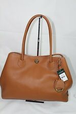 Ralph Lauren Millbrook Market Brown Leather Large Tote Shoulder Women's Bag $268