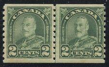 Canada 1930 KGV Arch/Leaf 2c green Cockeyed King Pair #180iii MNH