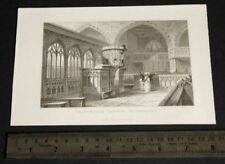 Engraving Small (up to 12in.) Vintage Art Prints