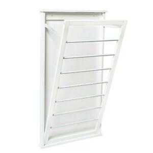 Vertical Dual Large Wall-Mounted Drying Rack Hanging Clothes Dryer Laundry Room