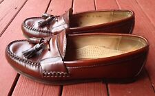Cole Haan Brown Loafers Patent Leather With Tassels Shoes Size 8.5