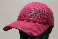 SHARK LOGO - PINK - JIMMY LEWIS  - ADJUSTABLE BALL CAP HAT